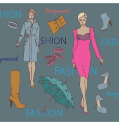 fashion elements vector image