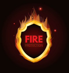 Fire protection system logo vector