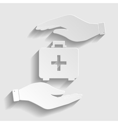 First aid box sign vector