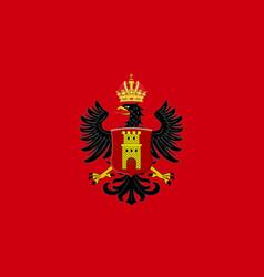 Flag of middelburg of zeeland netherlands vector