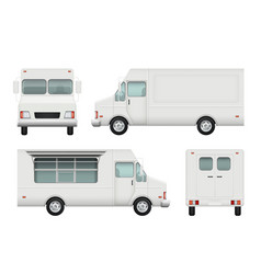 food truck realistic white automobile of street vector image