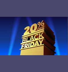 For black friday discounts in 20th century fox vector