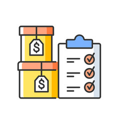 Goods ready for sale rgb color icon vector