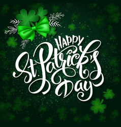 hand lettering st Patricks day greetings vector image
