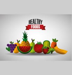 healthy foods dieting vector image