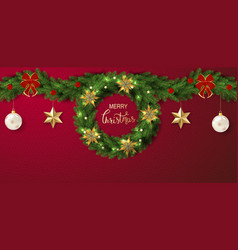 holiday lettering background merry vector image