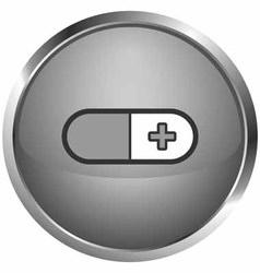 icon capsule vector image