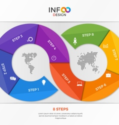 Infographic template in form infinity vector