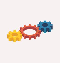 isometric mechanic gears vector image