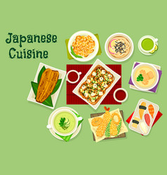 japanese cuisine dishes icon for asian food design vector image