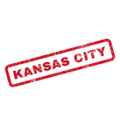 Kansas City Rubber Stamp vector image