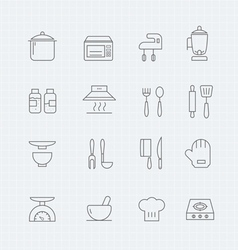 Kitchen thin line symbol icon vector