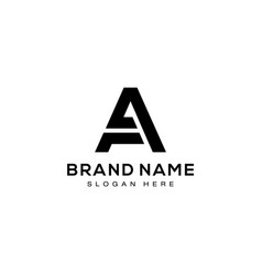 letter a typography logo template design vector image