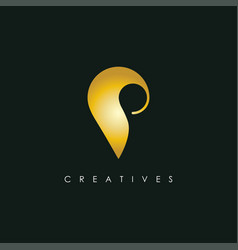 letter p icon logo design templatecreative vector image