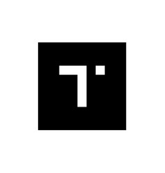 letter t logo combined with square shape vector image