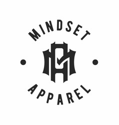 Lettering ma am logo design inspiration vector