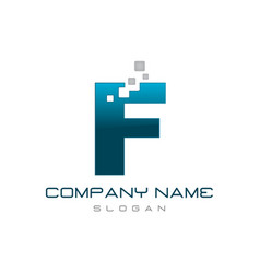 modern letter f vector image