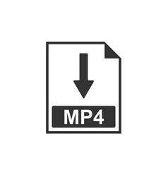 mp4 file document icon download mp4 button icon vector image