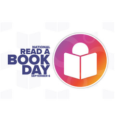 National read a book day september 6 holiday vector