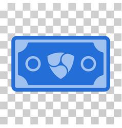 Nem banknote icon vector