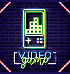 neon video games vector image