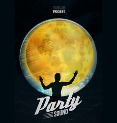 Party dance poster background template with vector