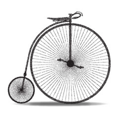 penny farthing dot silhouette vector image