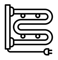 plug heating pipe icon outline style vector image