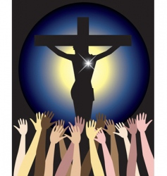 power of jesus christ easter vector image