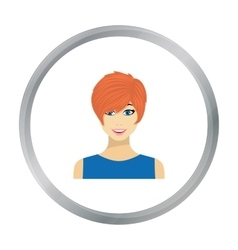 Readhead woman icon in flat style isolated on vector