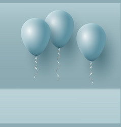 realistic 3d blue ballons vector image