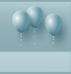 Realistic 3d blue ballons vector