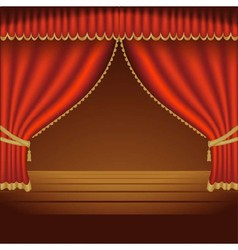 Red Theater Curtains vector