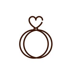 ring wedding love heart romantic passion feeling vector image