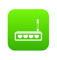 router icon digital green vector image