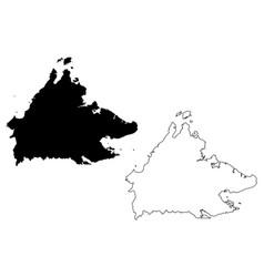 sabah map vector image