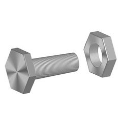 Screw-bolt and nut vector image vector image