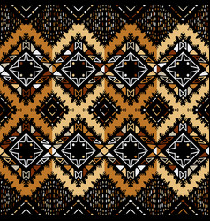 Seamless ethnic zigzag chevron tribal ikat pattern vector