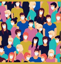 seamless pattern coronavirus pandemia novel vector image