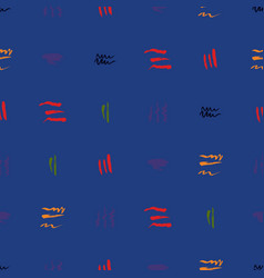 Seamless pattern hand drawn with a brush strokes vector