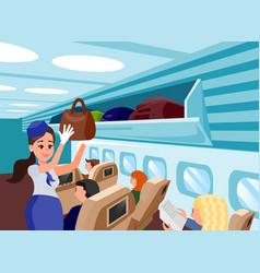 Special aircraft attendants flat vector
