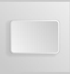 Square white 3d button vector