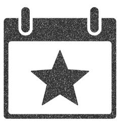 Star Calendar Day Grainy Texture Icon vector image