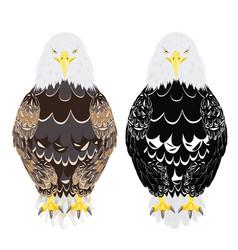 stylized bald eagle vector image