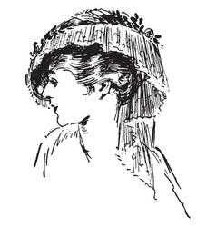 tassel hat vintage engraving vector image