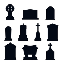 Tombs stone grave construction black vector