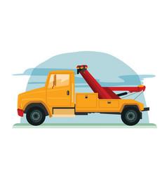 tow truck vector image