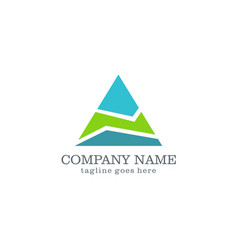 triangle abstract company logo design vector image