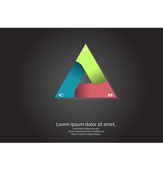 triangle motif template vector image