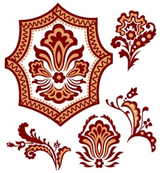 tribal paisley flower pattern vector image